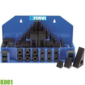 K001 Bộ gá kẹp máy phay 58 chi tiết, 12-18mm.
