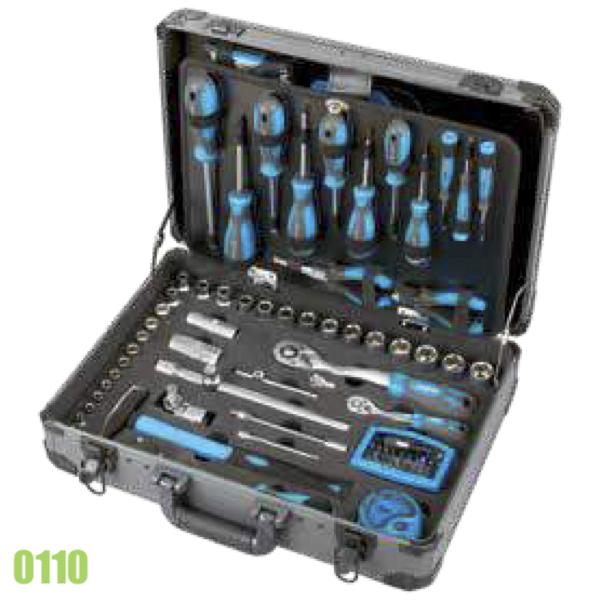 0110 Bộ đồ nghề bảo dưỡng 133 chi tiết, vạn năng của FERVI - Italia.