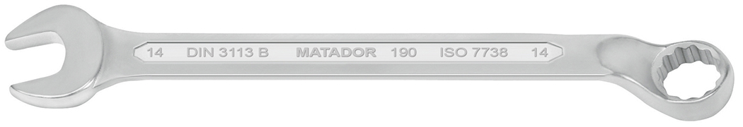 0190 cờ lê vòng miệng hệ mét, đáp ứng tiêu chuẩn DIN 3113 B