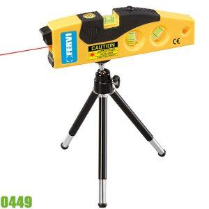 0449 Thước thủy laser mini 20m, độ chính xác 0,05°. FERVI Italia