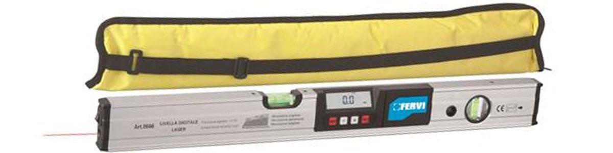 0666 Nivo điện tử 600m có tia laser. FERVI Italia