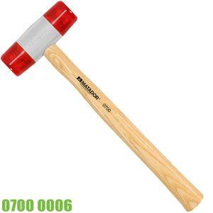 0700 0006 búa 2 đầu nhựa cán gỗ Matador Germany