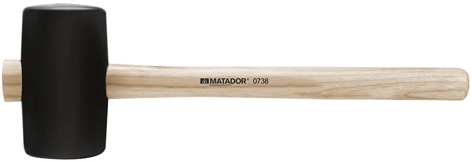 0738 0002 búa đầu cao su cán gỗ Matador Germany