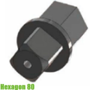 Hexagon80 Đầu chuyển lục giác 80mm sang đầu vuông 1 inch