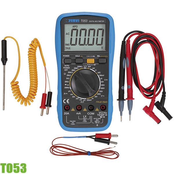 T053 Đồng hồ đo điện vạn năng FERVI Italia