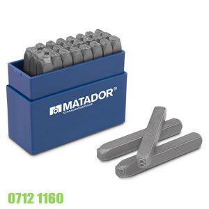 07121160 Bộ đụcchữ bằng thép hợp kim 6mm, Matador Germany
