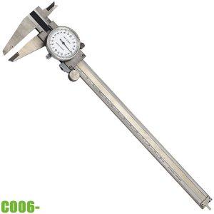 C006- Thước kẹp đồng hồ 0-300mm, inox. Chuẩn DIN 862