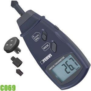 C069 Máy đo tốc độ vòng quay 2,5 - 9999,9 rpm. FERVI Italia
