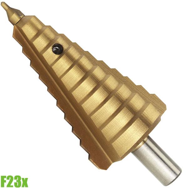F23x Mũi khoan tháp tầng 2,5-38mm, chuôi trụ 10mm. HSS