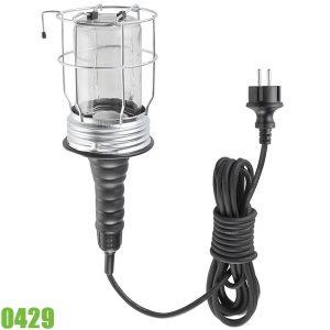 0429 Đèn công cụ cầm tay chiếu sáng công trình E27, chống nước