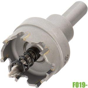 F019- Mũi khoét lỗ kim loại TCT ø15-100mm, có mũi định tâm. FERVI Italia