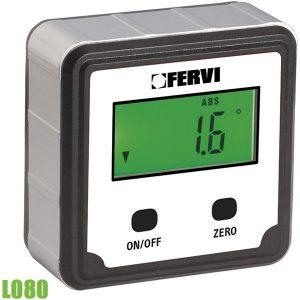 L080 Thước đo góc điện tử 0 ÷ 90°, 4 mặt đo. FERVI Italia