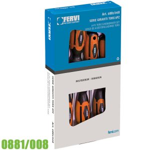 0881/008 Bộ tô vít sao 8 cây T7-T30, Mo-V. FERVI Italia