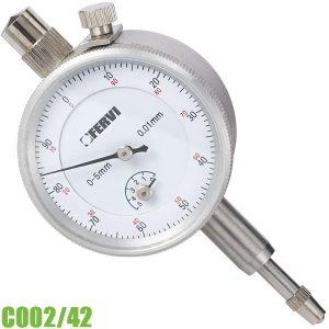 C002/42 Đồng hồ so cơ 5 mm, độ chính xác 0,015 mm. FERVI Italia