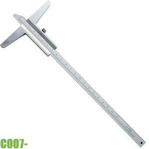 C007- Thước đo sâu cơ khí 0-300mm, chuẩn DIN 862