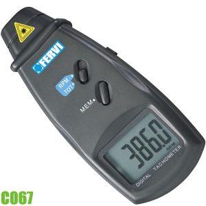 C067 Máy đo tốc độ vòng quay kỹ thuật số 2,5 - 9999,9 vòng/phút FERVI