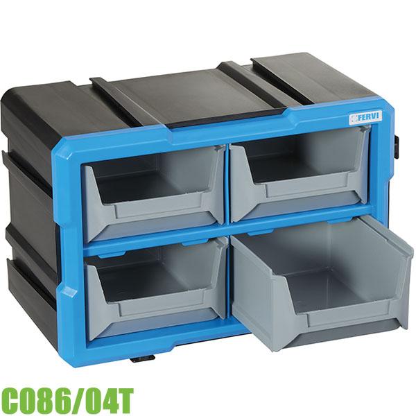C086-04T Tủ đựng dụng cụ 4 ngăn treo tường 300 x 200 x 165 mm FERVI
