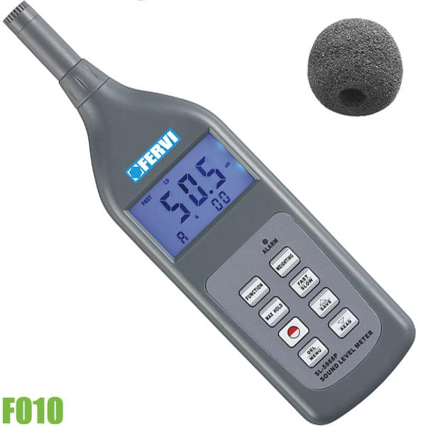 F010 Máy đo cường độ âm thanh 30-130 dB. FERVI Italia