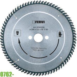 0762- Lưỡi cưa đĩa cắt nhôm và nhựa ø250-300mm FERVI Italia