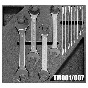 TM01-007 Bộ cờ lê 2 đầu miệng từ 6-32mm gồm 12 cây cho tủ