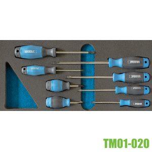 TM01-020 Bộ tua vít 8 cây dùng cho tủ dụng cụ đồ nghề FERVI