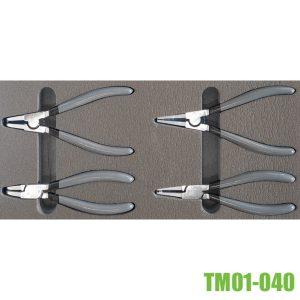 TM01-040 Bộ kìm mở phe cài trong ngoài gồm 4 cây cho tủ đồ nghề