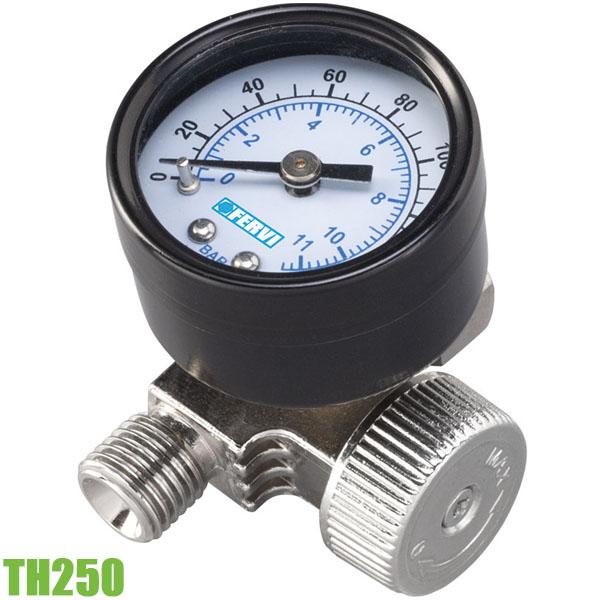 TH250 Bộ điều áp khí nén cho dụng cụ hơi có đồng hồ áp 0 ÷ 11 bar