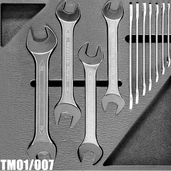 TM01/007 Bộ cờ lê 2 đầu miệng 12 món 6-32, chuẩn ISO 10102