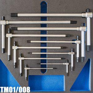 TM01/008 Bộ lục giác chữ T trượt 11 món 2-14mm FERVI Italia