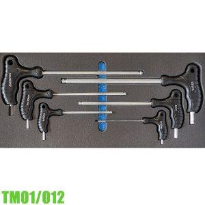 TM01/012 Bộ lục giác có tay cầm 6 cây 3-8mm cho tủ đồ nghề FERVI