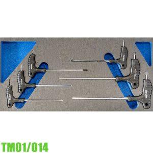 TM01/014 Bộ lục giác sao 6 cây T10-T40 có tay cầm chữ T FERVI Italia