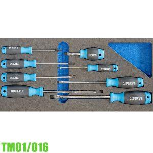 TM01/016 Bộ tua vít dẹp 8 cây cho tủ đồ nghề FERVI Italia