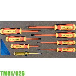 TM01/026 Bộ tua vít cách điện 8 món dẹp và bake FERVI Italia