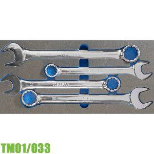 TM01/033 Bộ cờ lê vòng miệng 4 cây 24-32mm FERVI Italia