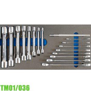 TM01/036 Bộ cờ lê 2 đầu vòng và ống tuýp 6-22 FERVI Italia