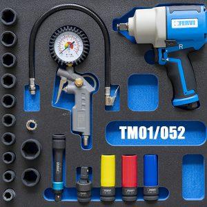TM01/052 Bộ dụng cụ cho ô tô 19 chi tiết cho tủ đồ nghề FERVI