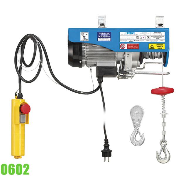0602 Tời điện 200-400 kg, 18 mét, công suất 1 kW FERVI Italia