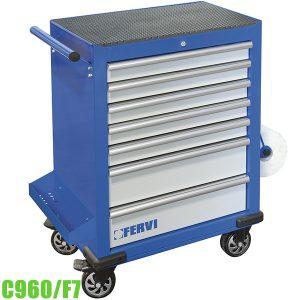 C960/F7 Tủ đồ nghề 7 ngăn 890 x 458 x 994 mm FERVI Italia