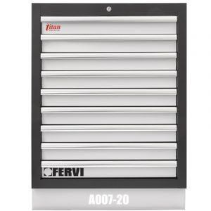 tủ dụng cụ đồ nghề 9 ngăn đặt cố định 680 x 458 x 910 mm