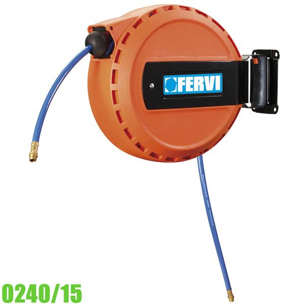 0240/15 Cuộn dây hơi rút tự động, dài 15+1m chịu áp 16 bar.