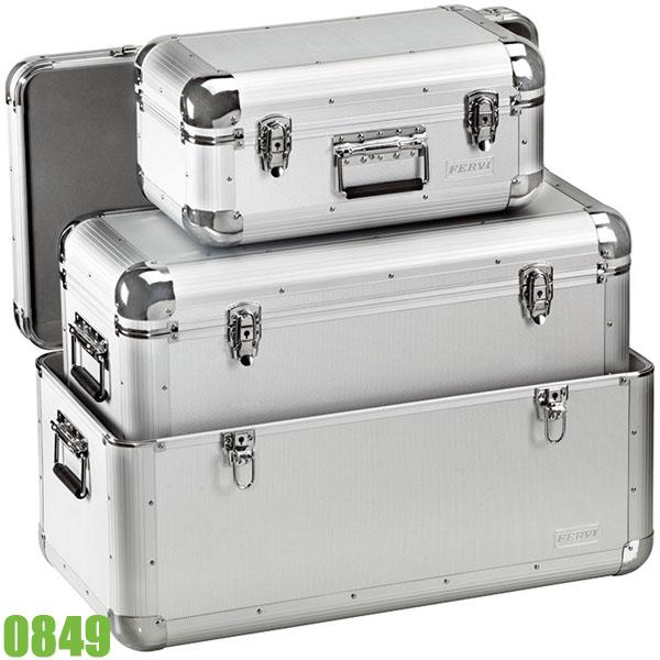 0849 Bộ 3 thùng đồ nghề bằng nhôm FERVI Italia