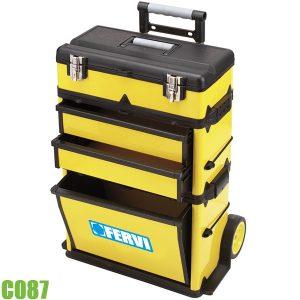 C087 Tủ đồ nghề di động 4 ngăn, kéo như vali - FERVI Italia