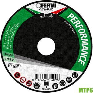 đĩa cắt kim loại MTP6 Fervi