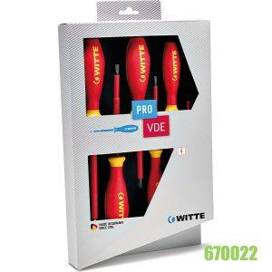 bộ tua vít 6 cây Pro VDE cách điện 670022