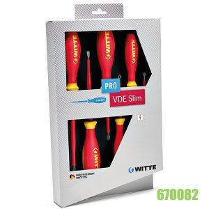 bộ tua vít cách điện 1000V VDE 670082 Pro slim