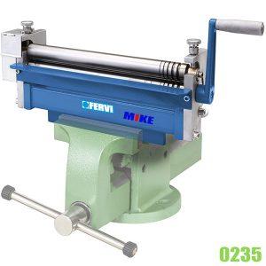 0235 Máy lốc tôn kim loại tấm mini 3 trục, dày max 2.5mm