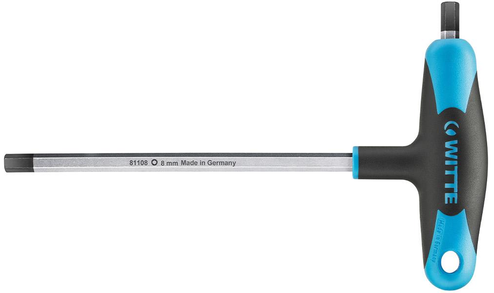 81100 Lục giác chữ T size 2-10mm, 2 đầu tay cầm đúc nhựa