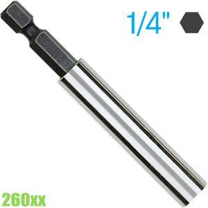 260 Thanh nối dài chuôi 1/4 inch, có nam châm dài 60-200mm